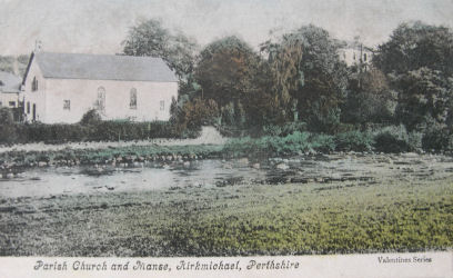 Church and Manse, Kirkmichael 1905.