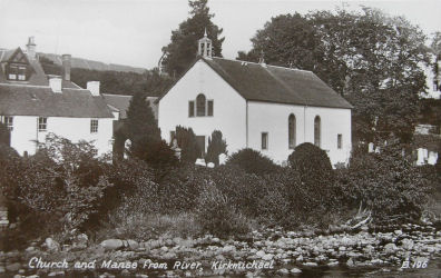Church and Session House from the river Kirkmichael.